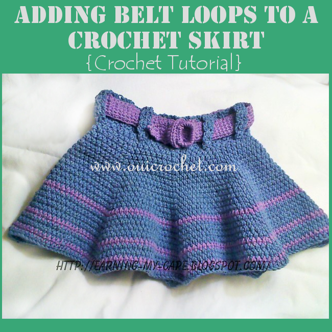 Adding Belt Loops to a Crochet Skirt
