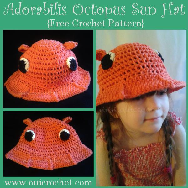 Adoribilis Octopus Sun Hat 1