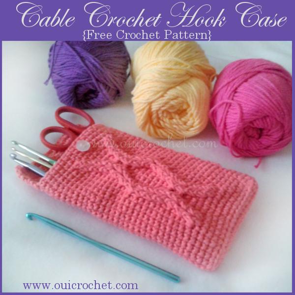 Cable Crochet Hook Case Pattern