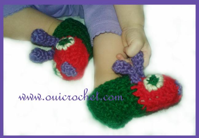 Caterpillar Slippers Crochet Pattern