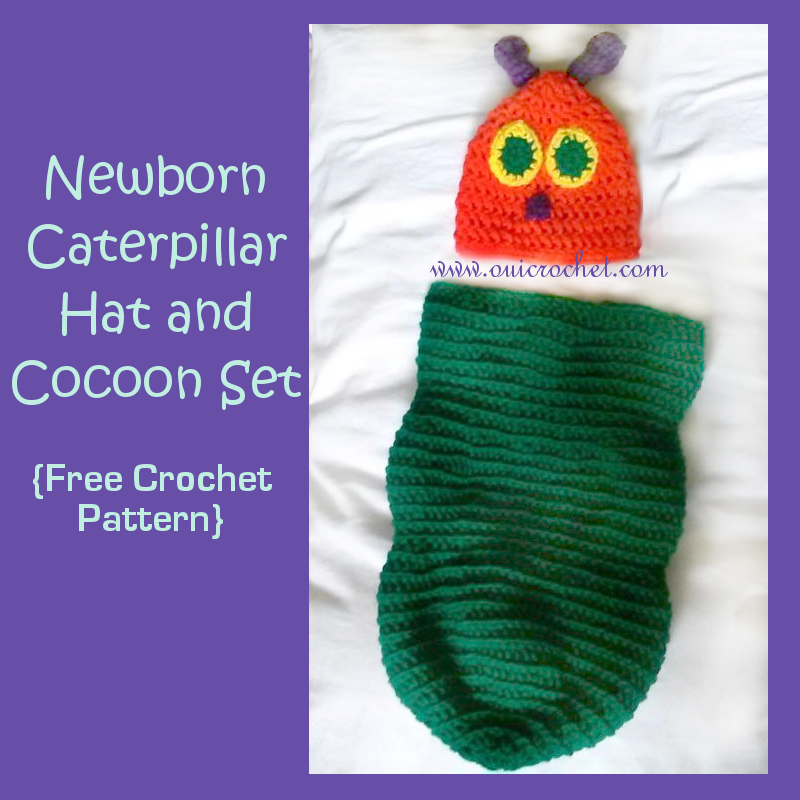 Caterpillar hat and cocoon