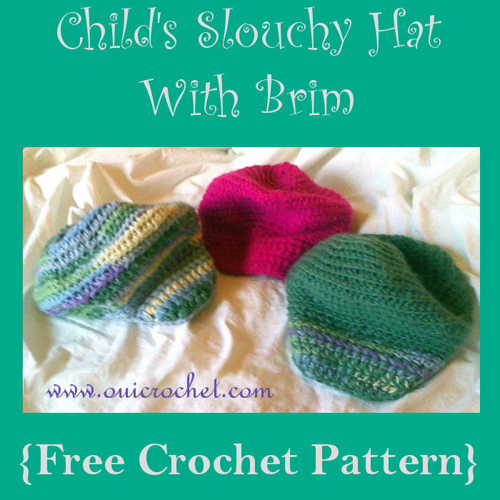 Childs Slouchy Hat With Brim