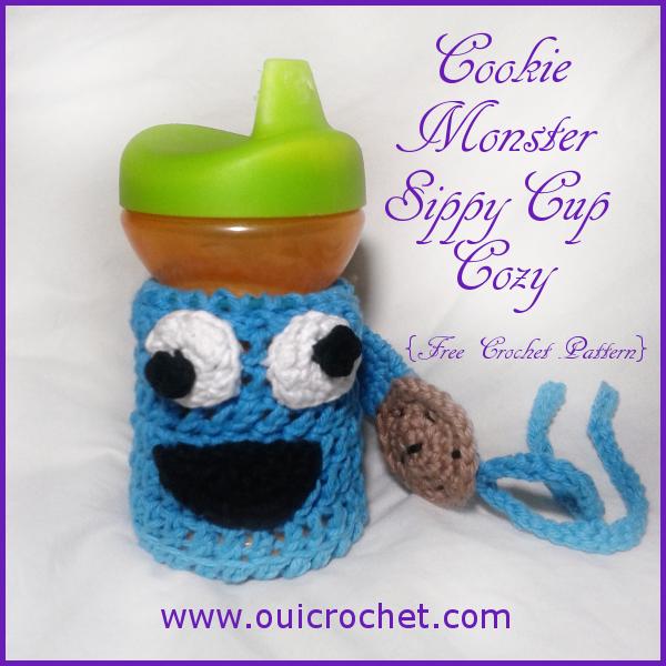 Cookie Monster Sippy Cozy Sesame Street Cookie Monster Sippy Tether Crochet Sippy Cozy Crochet Crochet Cookie Monster