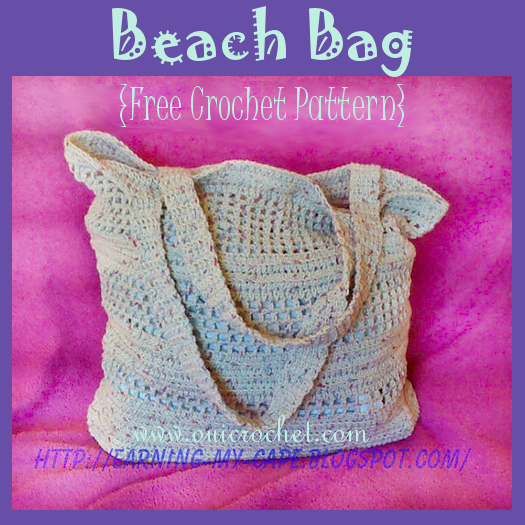 Crochet Beach Bag Free Crochet Pattern
