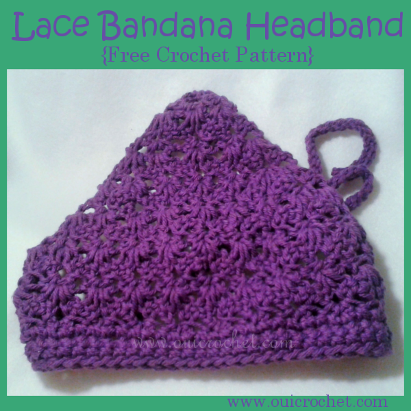 Crochet Lace Bandana Headband