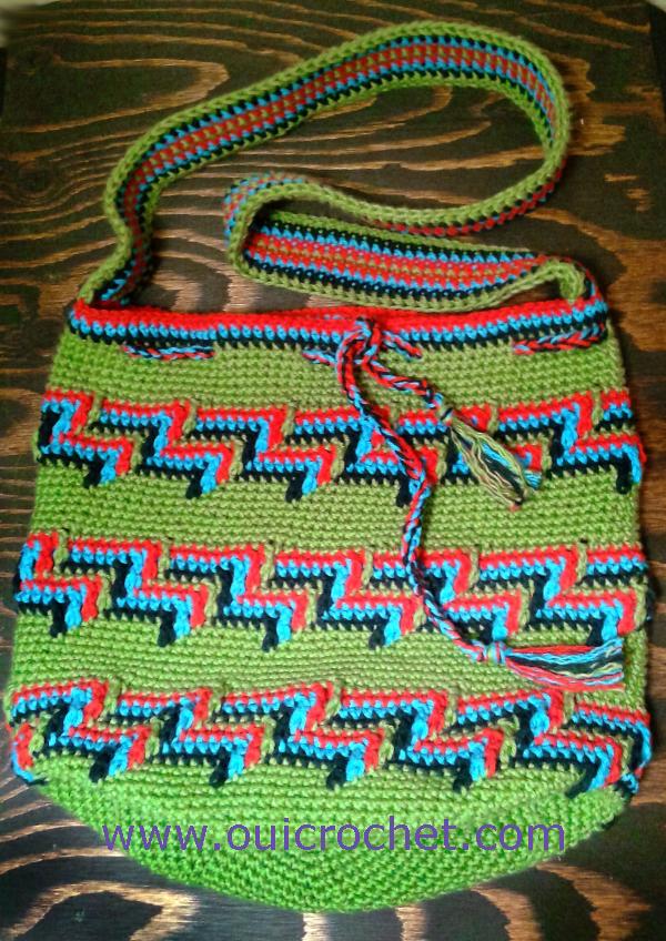 Crochet Mochila Bag Mochila Bag Wayuu Bag Bohemian Bag Crochet Bag Crochet Purse Free Crochet Pattern Crochet Gifts Apache Tears Crochet Stitch 2 2