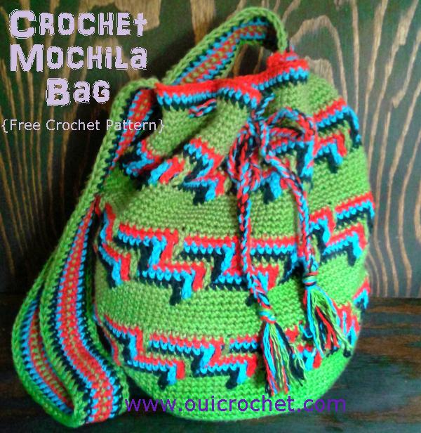 Crochet Mochila Bag Mochila Bag Wayuu Bag Bohemian Bag Crochet Bag Crochet Purse Free Crochet Pattern Crochet Gifts Apache Tears Crochet Stitch 2