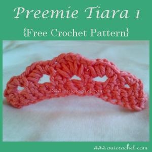 Crochet Preemie Tiara 1