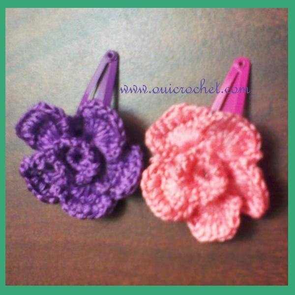 Flower Hair Clip Crochet Pattern