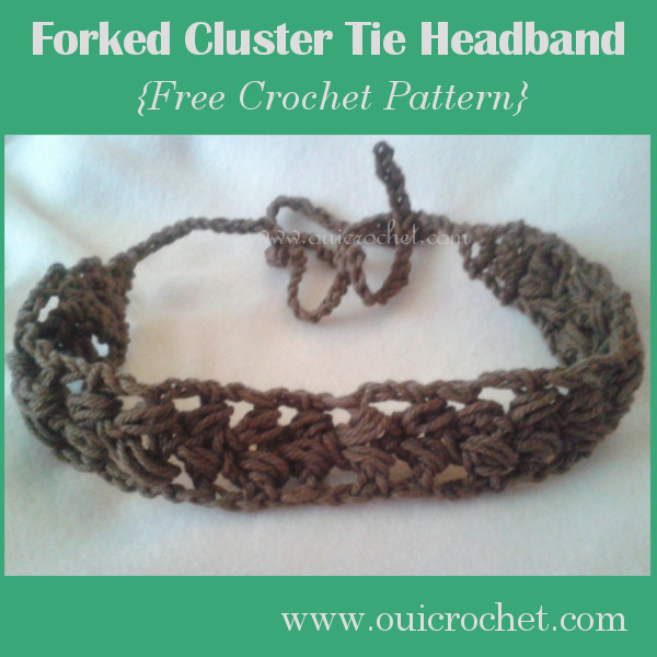 Forked Cluster Tie Headband