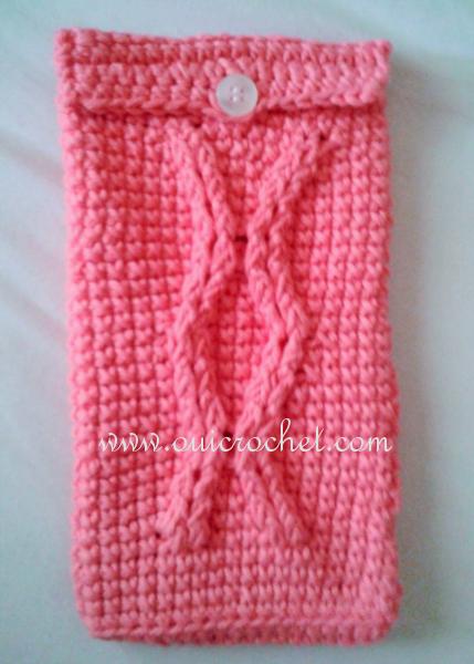 Free Cable Crochet Hook Case Pattern