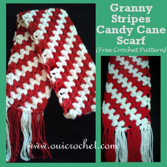 Granny Stripes Candy Cane Scarf