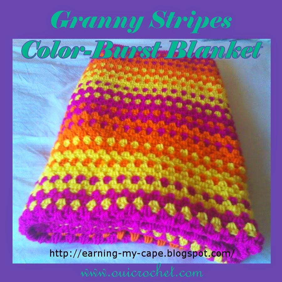 Granny Stripes Color Burst Blanket PNG