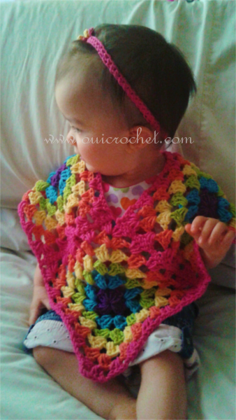 How to Crochet Granny Square Poncho Free Pattern