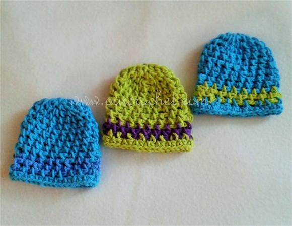 How to Crochet Preemie Hat 1