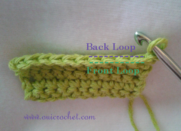How to Crochet in the Front or Back Loop 1