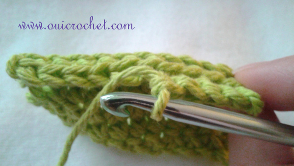 How to Crochet in the Front or Back Loop 6
