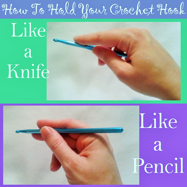 How to Hold Your Crochet Hook