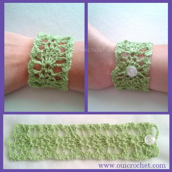 Lace Cuff Bracelet Crochet Pattern