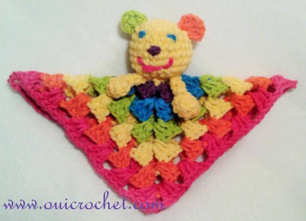 Mini Rainbow Bear and Cat Lovey Crochet Pattern