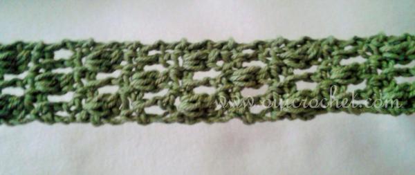 Offset Cluster Tie Headband Crochet Pattern