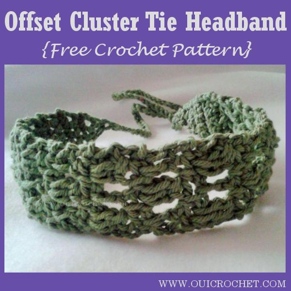 Offset Cluster Tie Headband