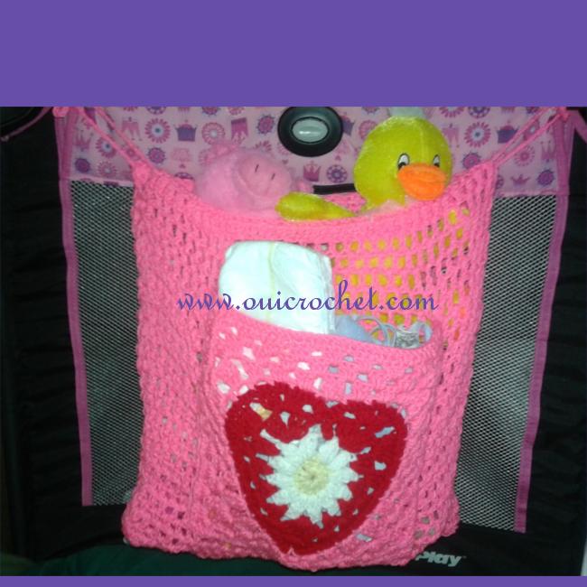 Pack N Play Toy Organizer Crochet Pattern