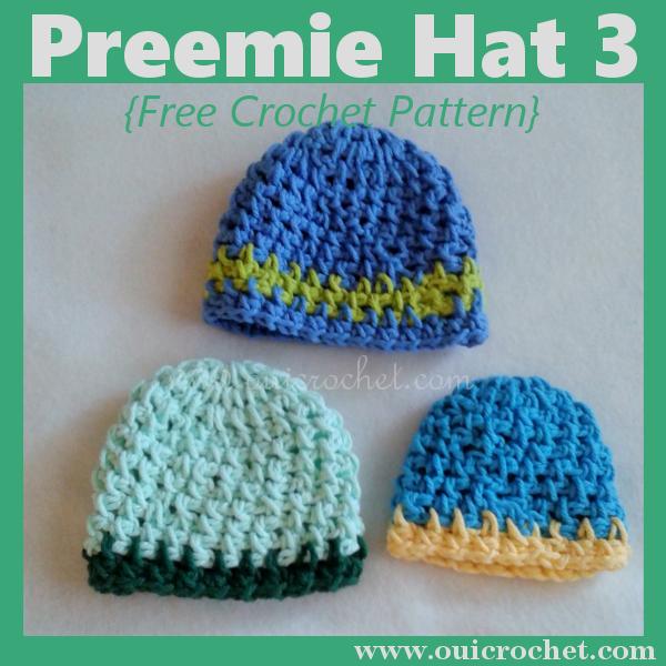 Preemie Hat 3 Free Crochet Pattern
