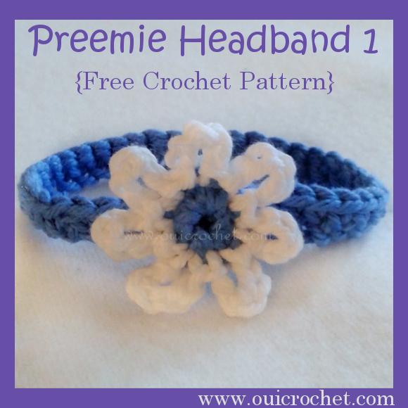 Preemie Headband Crochet Pattern