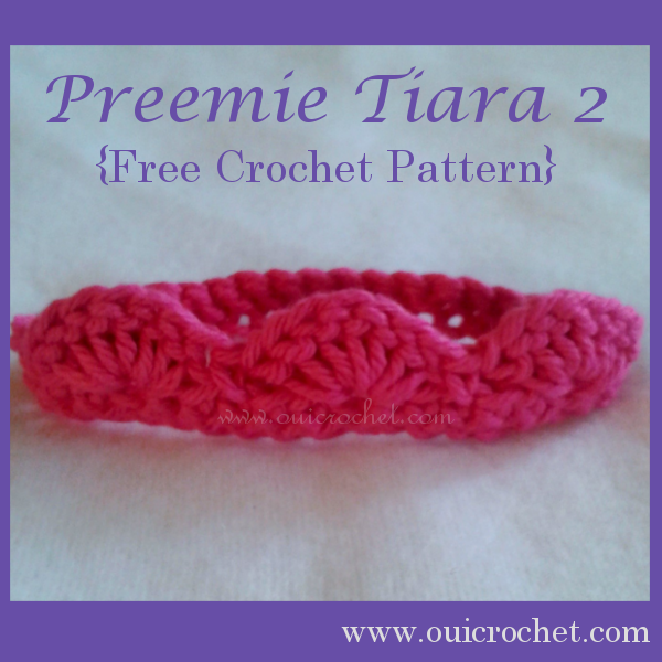 Preemie Tiara 2 Crochet Pattern