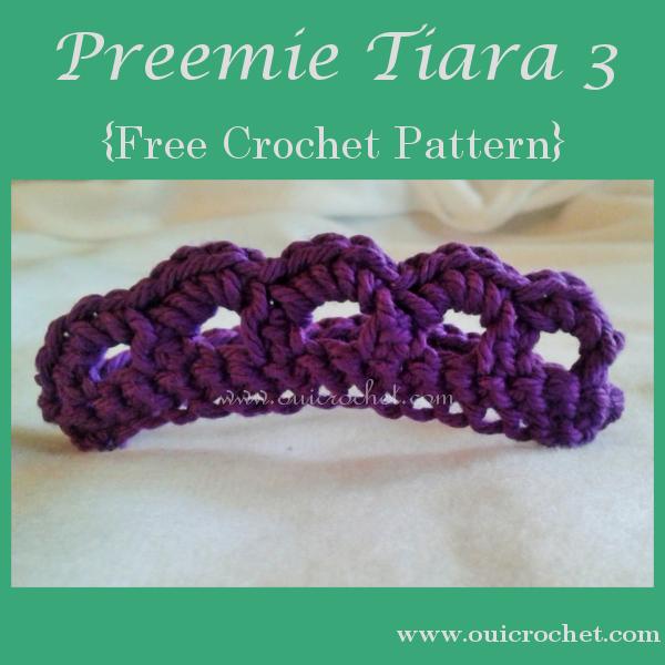 Preemie Tiara 3 Crochet