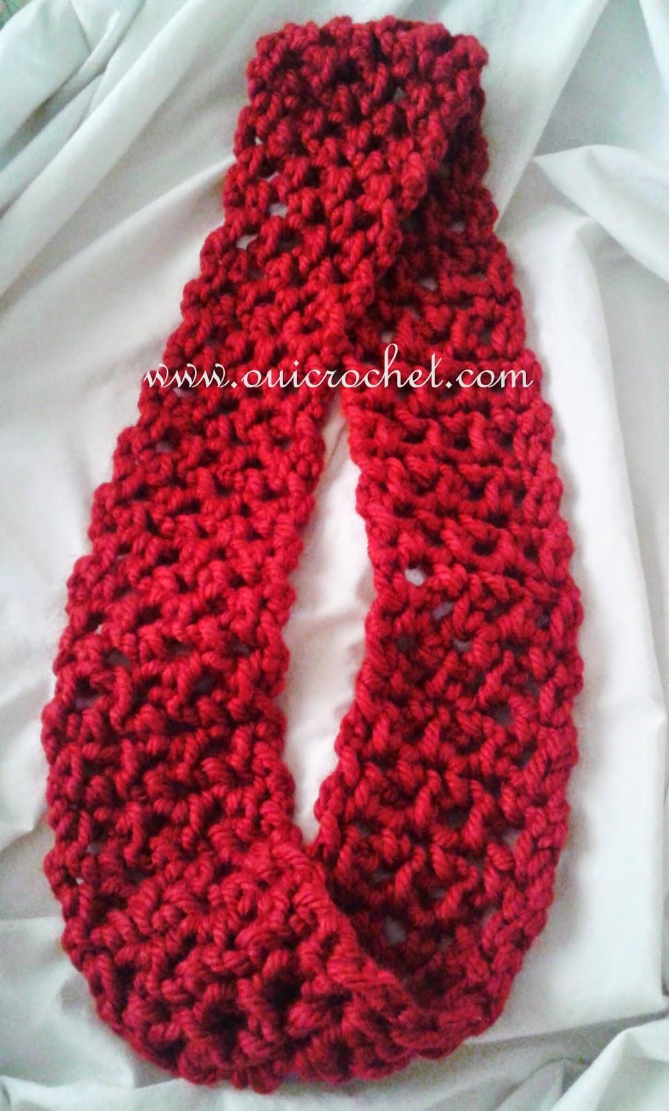 Quick Infinity Scarf Crochet Pattern