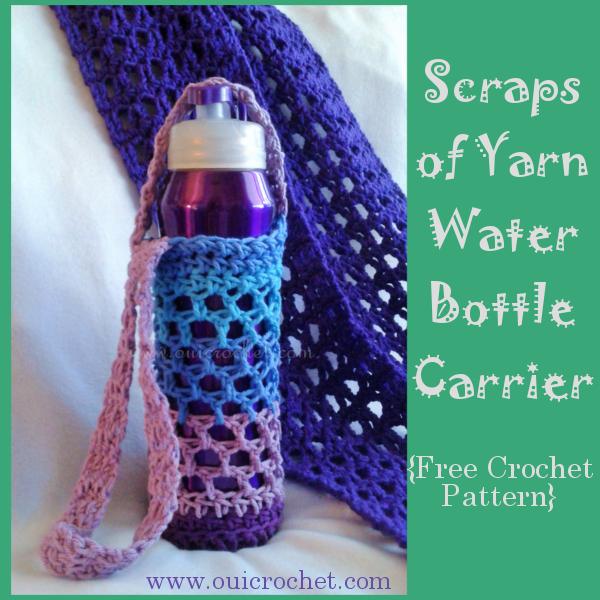 Scraps of Yarn Water Bottle Carrier