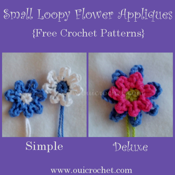 Small Loopy Flower Appliques 3