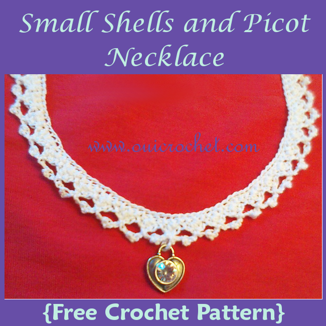 Small Shells and Picot Necklace
