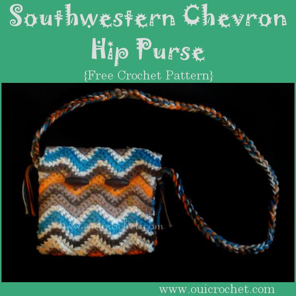 Southwestern Chevron Hip Purse A