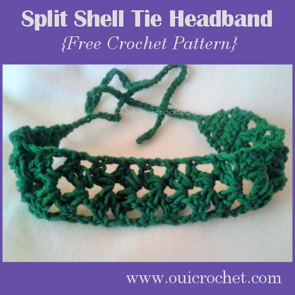 Split Shell Tie Headband 1