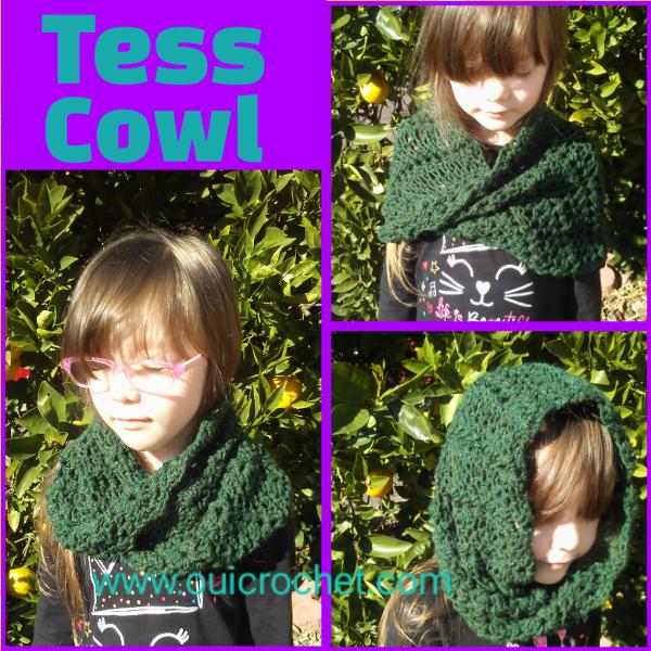 Tess Cowl Infinity Cowl Crochet Free Crochet Pattern Crochet Cowl Crochet ScarfCrochet Cowl for Kids