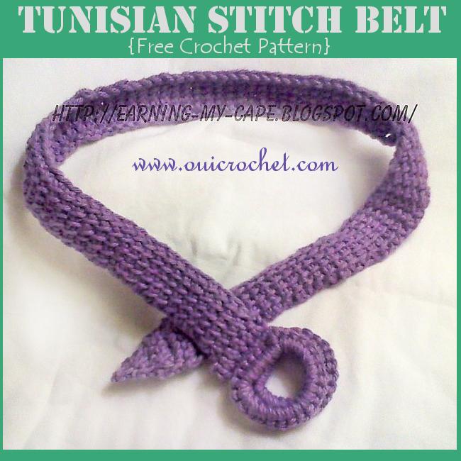 Tunisian Stitch Belt Crochet Pattern