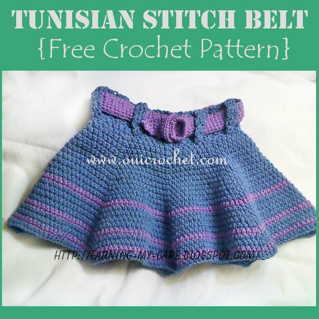 Tunisian Stitch Belt